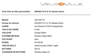 VTT Vélo de Ville XES 400 - Vélo à assistance électrique
