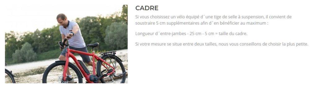 Guide pour les tailles de cadres de la marque vélo de ville
